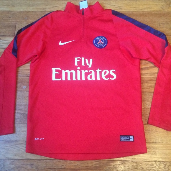 the best attitude a6d13 711d4 Nike Fly Emirates Paris Pullover Boys Medium